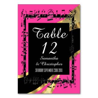 Den shock rosa-, svart- och guldpersonligen numrer bordsnummer