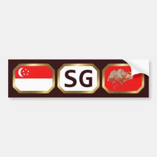 Den Singapore flaggakartan kodifierar bildekalet Bildekal