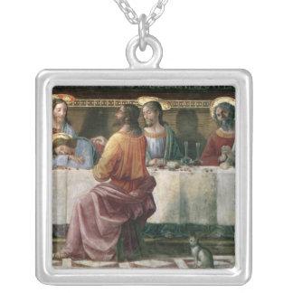 Den sist kvällsmålet 2 silverpläterat halsband