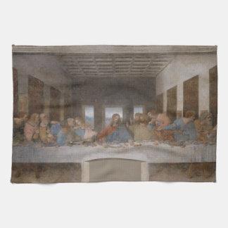 Den sist kvällsmålet av Leonardo Da Vinci Kökshandduk