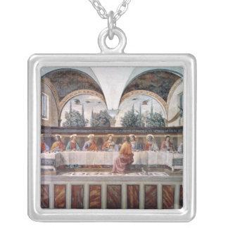 Den sist kvällsmålet silverpläterat halsband