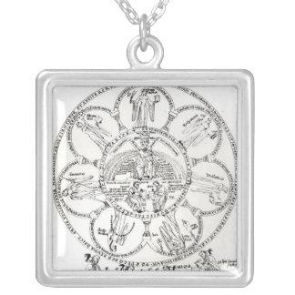 Den sju humanioran silverpläterat halsband