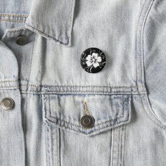 Den skämtsamma pansyen - vända om mini knapp rund 3.2 cm