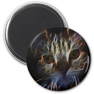 Den skina briljant kattungen avfyrar Fractalkonst Magnet