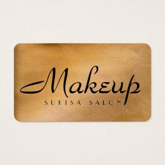 Den skina Makeupkonstnären förkopprar rundan Visitkort