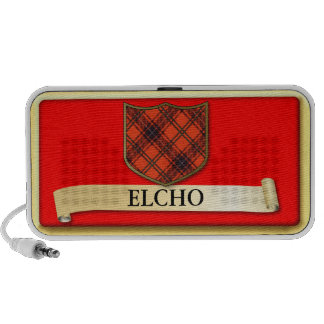 Den skotska Tartandesignen - Elcho - personifiera Notebook Högtalare