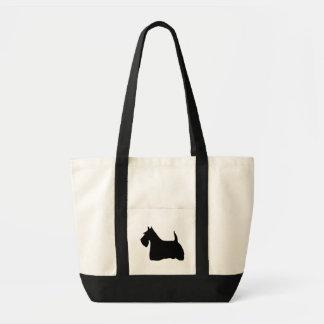 Den skotska totot för silhouette för Terrierhundsv Tygkasse
