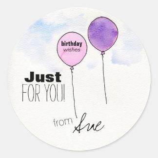 Den skräddarsy födelsedagen önskar klistermärkear runt klistermärke