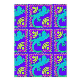 Den skraj polkaen pricker djura designer för 12,7 x 17,8 cm inbjudningskort