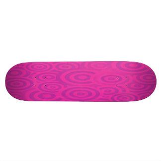 Den skraj rosan & purpurfärgat Retro cirklar Mini Skateboard Bräda 18,7 Cm