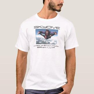 den skydiving skydive tandemcykeln fördunklar t shirt
