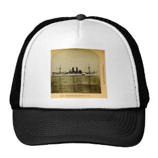 Den slagskeppMaine U.S. vintagen Stereoview Keps
