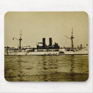 Den slagskeppMaine vintagen Stereoview Mus Matta