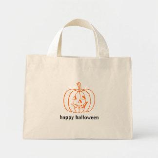 Den små happy halloween hänger lös med jack o lant mini tygkasse