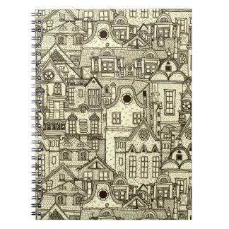 Den smala staden inhyser det sketchy anteckningsbok
