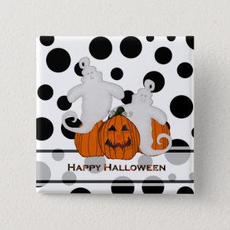 Den sned pumpa och spöken Halloween knäppas Standard Kanpp Fyrkantig 5.1 Cm