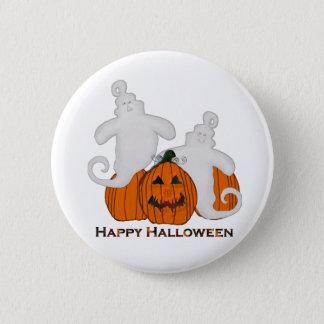 Den sned pumpa och spöken Halloween knäppas Standard Knapp Rund 5.7 Cm