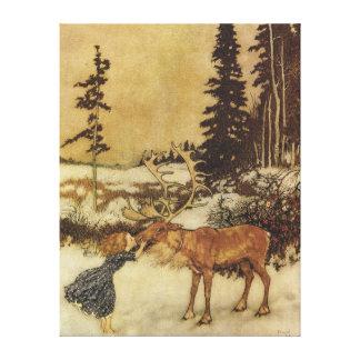 Den snödrottningEdmund Dulac konsten Canvastryck