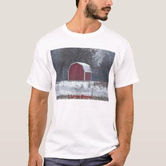 Den snöig lite röda ladugården, älskar jag t-shirt