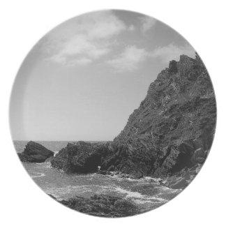 Den södra Devon kusten Prawle pekar B & W Tallrik