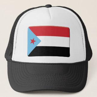Den södra Yemen flagga PERSONIFIERAR Truckerkeps