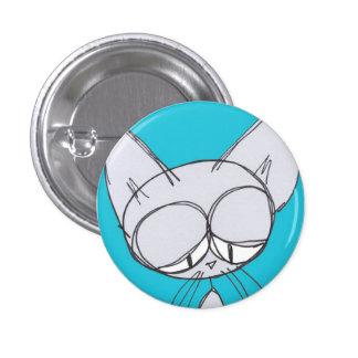 den sömniga katten - knäppas knappar med nål