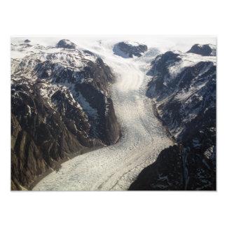 Den Sondrestrom glaciären i Grönland Fotografiska Tryck