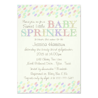 Den söta babyen strilar lite baby shower 12,7 x 17,8 cm inbjudningskort