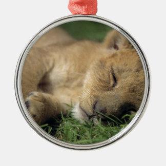 Den sova lionessen julgransprydnad metall