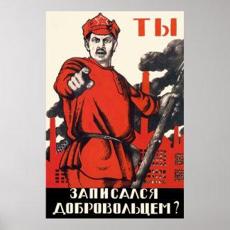 Den sovjetiska propagandaaffischen - har du poster