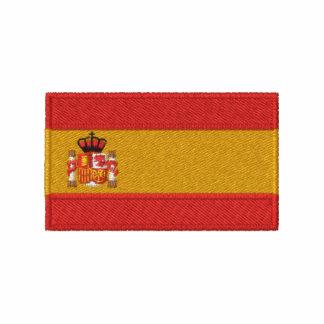 Den Spanien flagga broderade manar t-skjorta