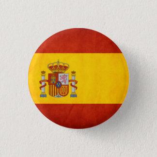 Den Spanien flagga knäppas Mini Knapp Rund 3.2 Cm