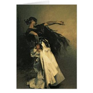 """Den spanska dansare, studie för """"El Jaleo"""", 1882 Hälsningskort"""