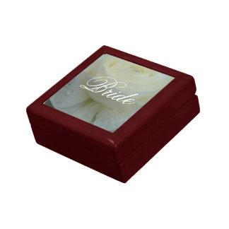 Den speciella brudbillig prydnadssakgåvan boxas smyckeskrin