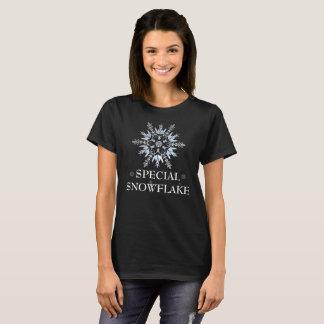 Den speciella snowflaken Sparkles T-tröja Tee Shirt