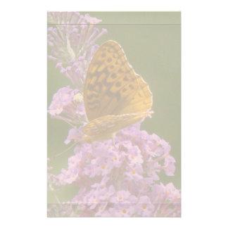 Den Spicebush fjärilen blommar blommigt Brevpapper