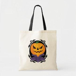 Den spöklika Halloween jack o lanternbus eller god Budget Tygkasse