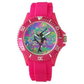 """Den sportiga rosa """"var ganska konståkning"""" klockan armbandsur"""