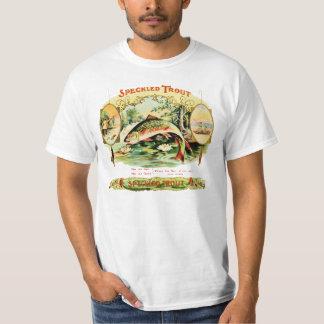 Den spräckliga forellvintagecigarren boxas t shirt
