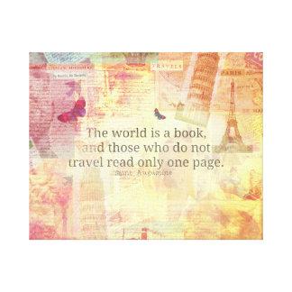 Den St Augustine världen är en bok reser Canvastryck