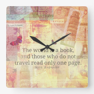 Den St Augustine världen är en bok reser Fyrkantig Klocka