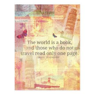Den St Augustine världen är en bok reser Vykort