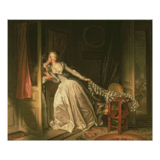 Den stal kyssen, c.1788 poster