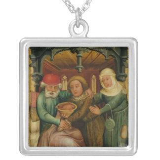 Den stal välsignelsen från kickaltaret silverpläterat halsband