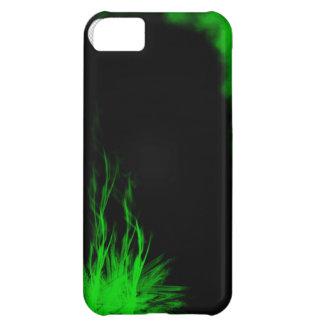 Den stam- grönt och svarten flammar och röker iPhone 5C fodral