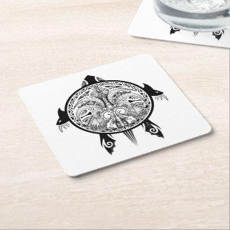Den stam- sköldpaddan skyddar tatueringen underlägg papper kvadrat