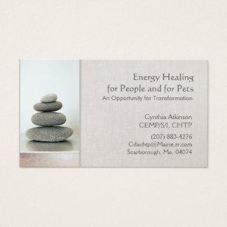 Den staplade zenen stenar Holistic vård- och hälsa Visitkort