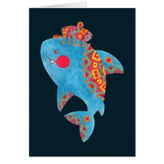 Den starka hajen hälsningskort
