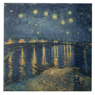 Den Starry natten 1888 Stor Kakelplatta