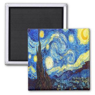 Den Starry natten av Vincent Van Gogh 1889 Magnet